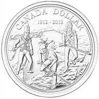 2012 Canada $1 War of 1812 Brilliant Uncirculated Silver (TAX Exempt)