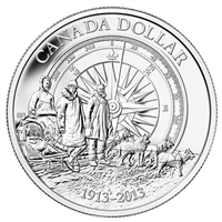 RDC 2013 Canada Arctic Expedition BU Silver Dollar (TAX Exempt) Impaired