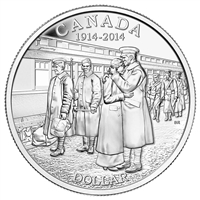 2014 Canada $1 100th Anniversary of the Declaration of WWI BU (No Tax)