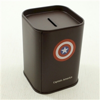 Money Bank: Captain America Themed Coin Bank w/bonus Large Cent