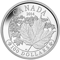 2014 Canada $100 Majestic Maple Leaves Fine Silver (TAX Exempt)