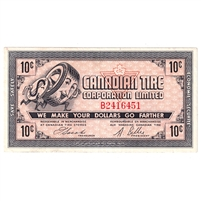 G6-B-B 1968 Canadian Tire Coupon 10 Cents Almost Uncirculated (Tear)