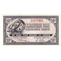 G8-D-U2 1978 Canadian Tire Coupon 50 Cents Almost Uncirculated