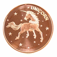 Pure Copper 1oz. .999 Fine Copper - Unicorn (No Tax) Copper16