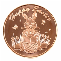 Pure Copper .999 Fine Copper - Happy Easter (No Tax)