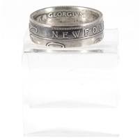 Custom Newfoundland Silver Coin Ring - Made Just For You!