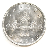 1935 Canada Dollar Choice Brilliant Uncirculated (MS-64) $
