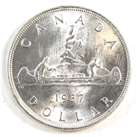 1937 Canada Dollar Brilliant Uncirculated (MS-63) $