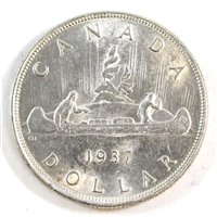 1937 Canada Dollar Choice Brilliant Uncirculated (MS-64) $