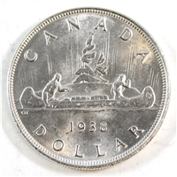 1938 Canada Dollar Brilliant Uncirculated (MS-63) $