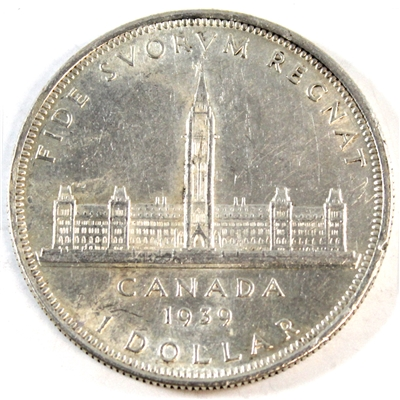 1939 Canada Dollar Almost Uncirculated (AU-50)