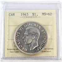 1945 Canada Dollar ICCS Certified MS-62