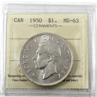 1950 Canada Dollar ICCS Certified MS-63