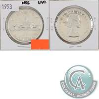 1953 NSS Canada Dollar Uncirculated (MS-60)