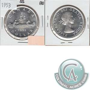 1953 SS Canada Dollar Brilliant Uncirculated (MS-63)