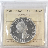 1960 Canada Dollar ICCS Certified PL-66 Heavy Cameo