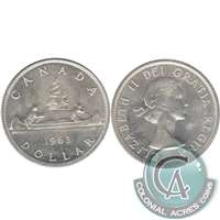 1963 Canada Dollar Uncirculated (MS-60)