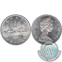 1965 Var. 1 Canada Dollar Brilliant Uncirculated (MS-63)