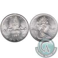 1965 Var. 3 Canada Dollar Brilliant Uncirculated (MS-63)