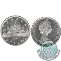 1965 Var. 4 Canada Dollar Brilliant Uncirculated (MS-63)