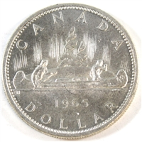 1965 Var. 4 Canada Dollar Uncirculated (MS-60)
