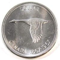 1967 Canada Dollar Brilliant Uncirculated (MS-63)