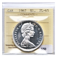 1967 Canada Dollar ICCS Certified PL-65 Heavy Cameo