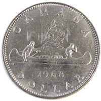 1968 Canada Nickel Dollar Choice Brilliant Uncirculated (MS-64)