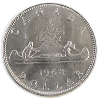 1968 No Island Canada Nickel Dollar Brilliant Uncirculated (MS-63)