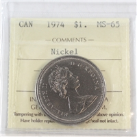 1974 Canada Nickel Dollar ICCS Certified MS-65
