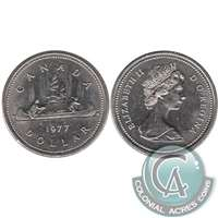 1977 Var. 1 Att. Jewel SWL Canada Nickel Dollar Uncirculated (MS-60)