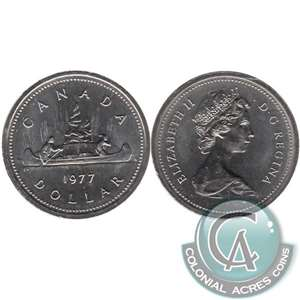 1977 Var. 3 Det. Jewel SWL Canada Nickel Dollar Brilliant UNC. (MS-63)