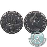 1977 Var. 3 Det. Jewel SWL Canada Nickel Dollar Proof Like