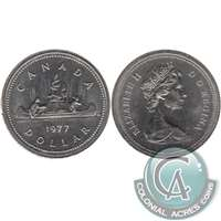 1977 Var. 3 Det. Jewel SWL Canada Nickel Dollar UNC+ (MS-62)