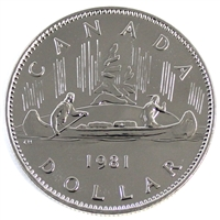 1981 Canada Nickel Dollar Proof Like