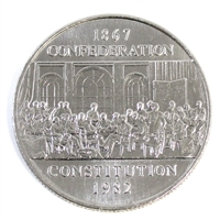 1982 Constitution Canada Nickel Dollar Brilliant Uncirculated (MS-63)