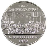 1982 Constitution Canada Nickel Dollar Proof Like