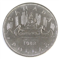1982 Voyageur Canada Nickel Dollar Brilliant Uncirculated (MS-63)