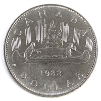 1982 Voyageur Canada Nickel Dollar Choice Brilliant Uncirculated MS-64