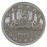 1982 Voyageur Canada Nickel Dollar Proof Like