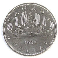 1982 Voyageur Canada Nickel Dollar UNC+ (MS-62)