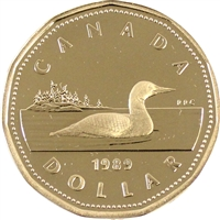 1989 Canada Loon Dollar Proof