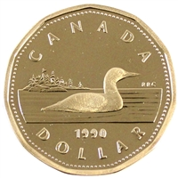 1990 Canada Loon Dollar Proof