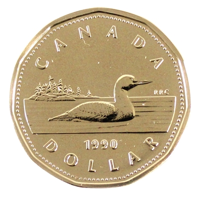 1990 Canada Loon Dollar Proof Like
