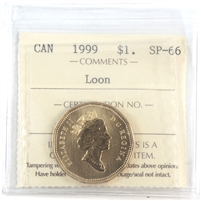 1999 Canada Dollar ICCS Certified SP-66 Loon