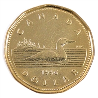 1996 Canada Loon Dollar Brilliant Uncirculated (MS-63)