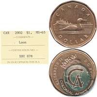 2002 Canada Loon Dollar ICCS Certified MS-65