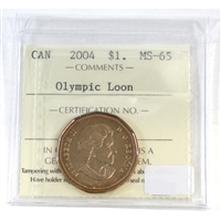 2004 Canada Olympic Loon Dollar ICCS Certified MS-65