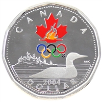 2004 Canada Silver Coloured Lucky Loon Dollar Proof