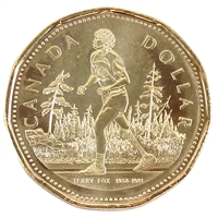 2005 Canada Terry Fox Dollar Brilliant Uncirculated (MS-63)